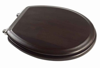 American Standard 5315.110.339 Boulevard Round Front Wood Finish Toilet Seats - Espresso