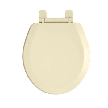American Standard 5320.110.021 EverClean Round Front Toilet Seat with Slow Close Snap-Off Hinges - Bone