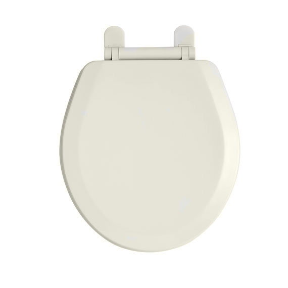 American Standard 5320.110.222 EverClean Round Front Toilet Seat with Slow Close Snap-Off Hinges - Linen
