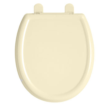 American Standard 5345.110.021 Cadet 3 Round Front Slow Close Toilet Seat with EverClean Surface - Bone