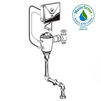 American Standard 6063.201.007 Selectronic FloWise DC Powered Concealed Urinal Flush Valve - Rough Brass