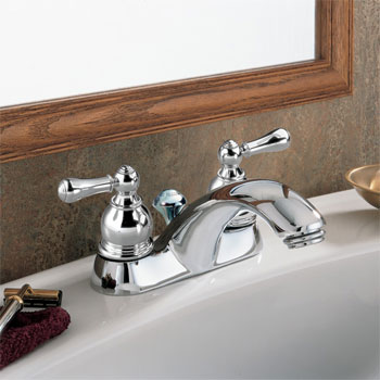 American Standard 7411.732.295 Hampton Lavatory Centerset Faucet - Satin Nickel  (Pictured in Chrome)