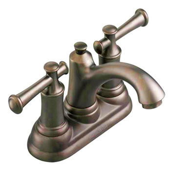American Standard 7415.201.224 Portsmouth Centerset Lavatory Faucet with Lever Handles - Oil Rubbed Bronze