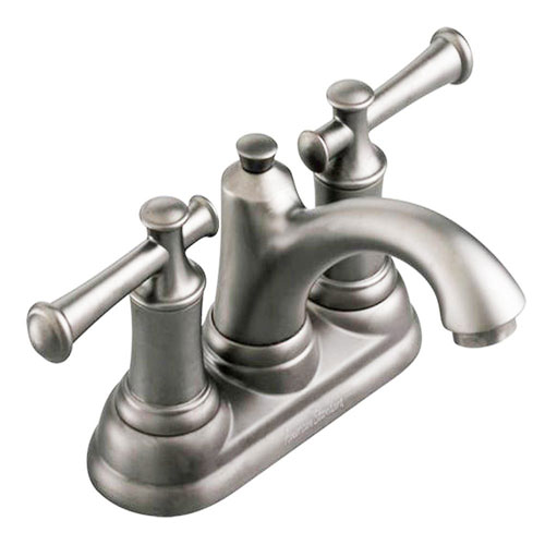 American Standard 7415.201.295 Portsmouth Centerset Lavatory Faucet with Lever Handles - Satin Nickel