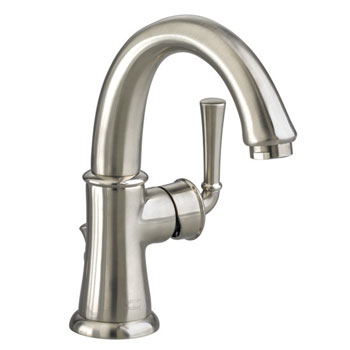 American Standard 7420.101.295 Portsmouth Monoblock Lavatory Faucet with Lever Handle - Satin Nickel
