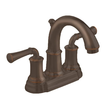 American Standard 7420.201.224 Portsmouth Centerset Lavatory Faucet with Lever Handles - Oil Rubbed Bronze