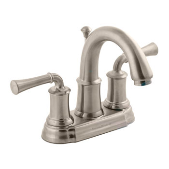 American Standard 7420.201.295 Portsmouth Centerset Lavatory Faucet with Lever Handles - Satin Nickel