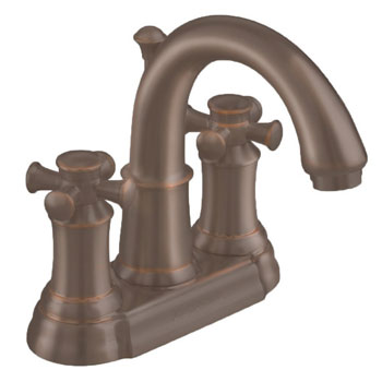 American Standard 7420.221.224 Portsmouth Centerset Lavatory Faucet with Cross Handles - Oil Rubbed Bronze