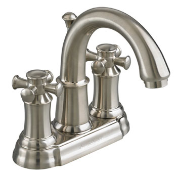 American Standard 7420.221.295 Portsmouth Centerset Lavatory Faucet with Cross Handles - Satin Nickel