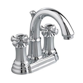 American Standard 7420.221.002 Portsmouth Centerset Lavatory Faucet with Cross Handles - Chrome