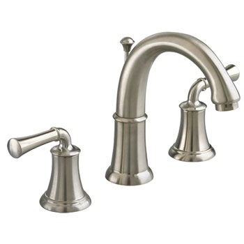 American Standard 7420.801.295 Portsmouth Widespread Lavatory Faucet with Lever Handles - Satin Nickel