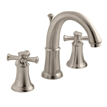 American Standard 7420.821.295 Portsmouth Widespread Lavatory Faucet with Cross Handles - Satin Nickel
