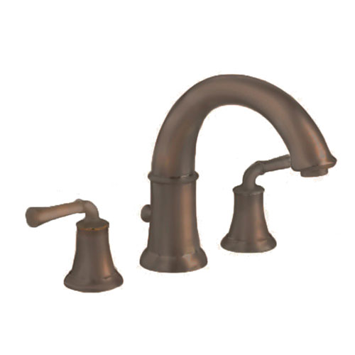 American Standard 7420.900.224 Portsmouth Deck Mount Tub Filler with Lever Handles - Oil Rubbed Bronze