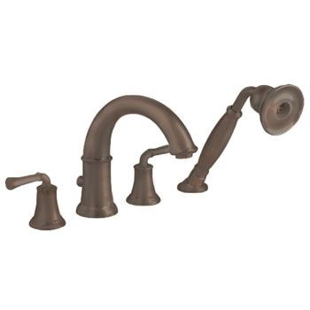 American Standard 7420.901.224 Portsmouth Deck Mount Tub Filler with Lever Handles and Personal Shower - Oil Rubbed Bronze