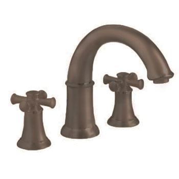 American Standard 7420.920.224 Portsmouth Deck Mount Tub Filler with Cross Handles - Oil Rubbed Bronze