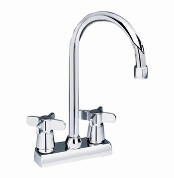 American Standard 7490.000.002 Amarilis Heritage Centerset Two-Handle Bar Faucet - Chrome