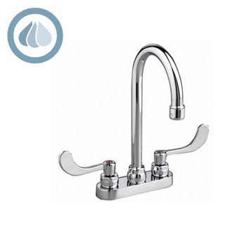 American Standard 7500.180.002 Monterrey Centerset Faucet with Laminar Flow in Base of Gooseneck Spout - Chrome