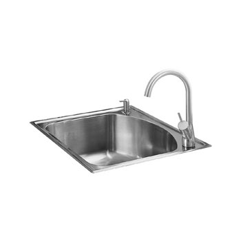 American Standard 7501.103.075 Culinaire+ Collection Top Mount Kitchen Sink - Stainless Steel