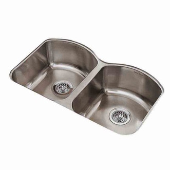 American Standard 7502.000.075 Culinaire+ Collection Undercounter Mount Kitchen Sink - Stainless Steel