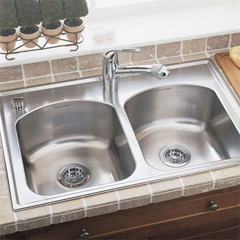 American Standard 7502.103.075 Culinaire+ Collection Top Mount Center Hole Only Kitchen Sink - Stainless Steel