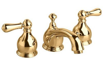 American Standard 7871.732.099 Hampton Widespread Lavatory Faucet - Polished Brass