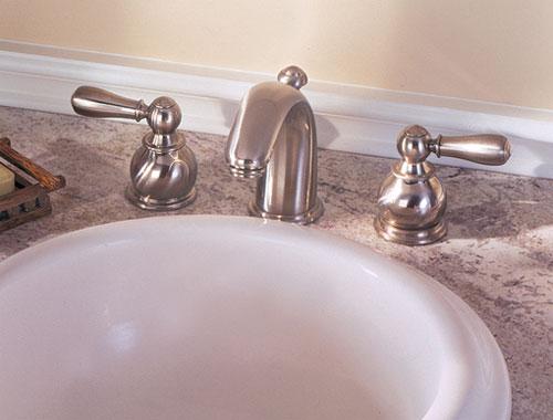 American Standard 7881 732 295 Hampton Widespread Lavatory Faucet Satin Nickel