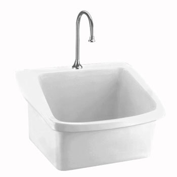 American Standard 9047.044.020 Surgeon's Scrub Sink - White