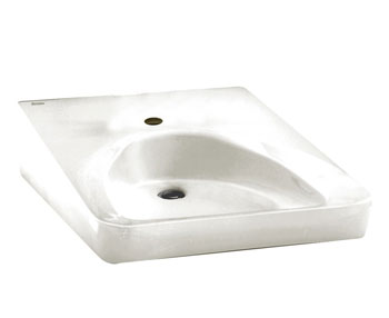 American Standard 9140.047.020 Wheelchair Users Bathroom Sink - White