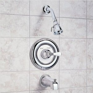 American Standard T215.701.099 Hampton Bath/Shower Trim Kit - Polished Brass (Pictured in Chrome)