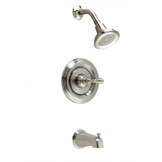 American Standard T215.730.002 Hampton Bath/Shower Trim Kit - Chrome (Pictured in Satin Nickel)