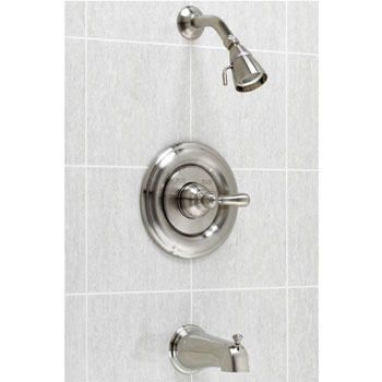 American Standard T215.730.295 Hampton Bath/Shower Trim Kit - Satin Nickel (Pictured in Chrome)