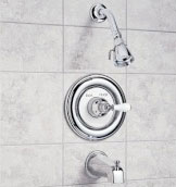 American Standard T254.710.295 Hampton Bath/Shower Trim Kit - Satin Nickel  (Pictured in Chrome)