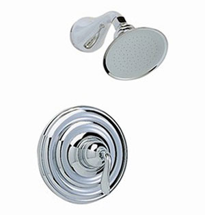 American Standard T342.000.299 Amarilis Single Handle Shower Only Trim Kit - Chrome/Brass Mix (Pictured in Chrome)