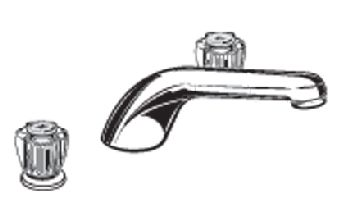 American Standard T975.400.099 Colony Soft Deck-Mount Tub Filler Trim Kit  - Polished Brass