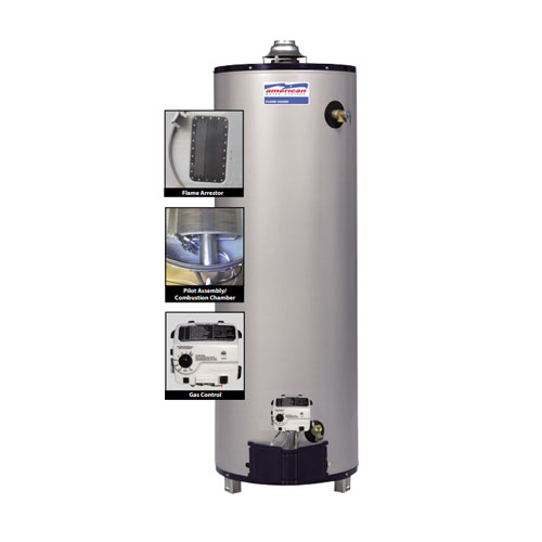 American Water Heater UG62-40T40-3NV 40 Gallon Residential Gas Ultra Low NOx Water Heater