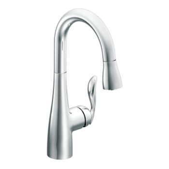 Moen 5995 Arbor Single-Handle High Arc Pulldown Bar Faucet - Chrome