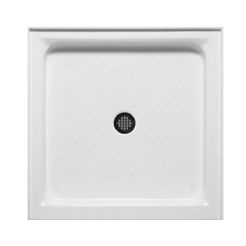 Americh A3838st Wh Single Threshold 38 Quot X 38 Quot Shower Base
