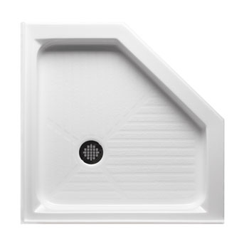 Americh A4848na Wh Neo Angle 48 Quot X 48 Quot Shower Base White