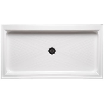 Americh A4234ST-WH Single Threshold 42 inch  x 34 inch  Shower Base - White
