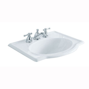 American Standard 0291.008.020 Retrospect Countertop Sink with Faucet Holes on 8