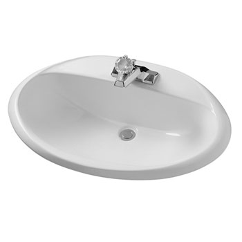 American Standard 0439.004US Ohio Oval Countertop Lavatory Sink - White