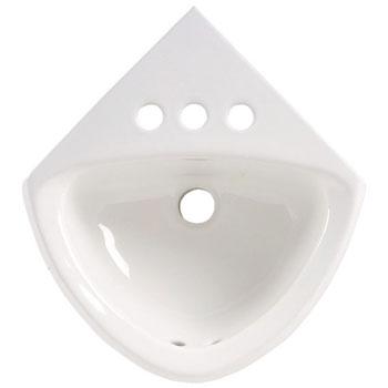 American Standard 0451.021.020 Corner Minette Wall-Mount Sink - White