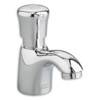 American Standard 1340M.109.002 Pillar Tap Metering Faucet with Mixing Valve - Chrome