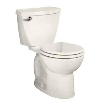 American Standard 270BA.001.222 Cadet 3 Right Height Round Front 1.6 gpf Toilet - Linen