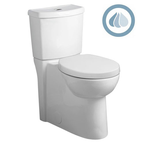 American Standard 2794.204.020 Studio Concealed Trapway Dual Flush Toilet Right Height Elongated - White