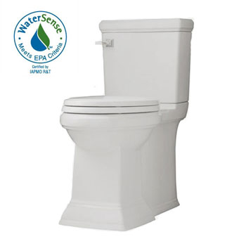 American Standard 2817.128.020 Town Square FloWise Concealed Trapway Right Height Elongated Toilet - White
