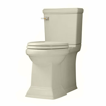 American Standard 2817.128.222 Town Square FloWise Concealed Trapway Right Height Elongated Toilet - Linen