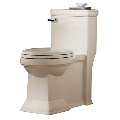 American Standard 2847.128.222 Town Square FloWise Right Height Elongated One Piece Toilet - Linen