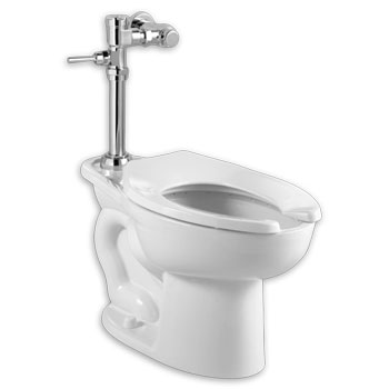American Standard 2857.128.020 Madera 1.28 gpf ADA Toilet with Exposed Manual Flush Valve System - White