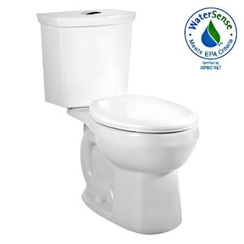 American Standard 2889.216.020 H2Option Siphonic Dual Flush Round Front Toilet - White